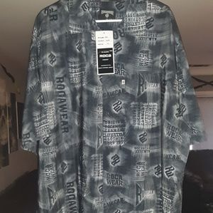 Rocawear buttondown graphic shirts